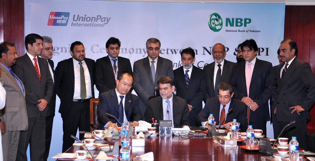 Nbp signs mou with china unionpay to launch new cards - National bank of pakistan head office ...