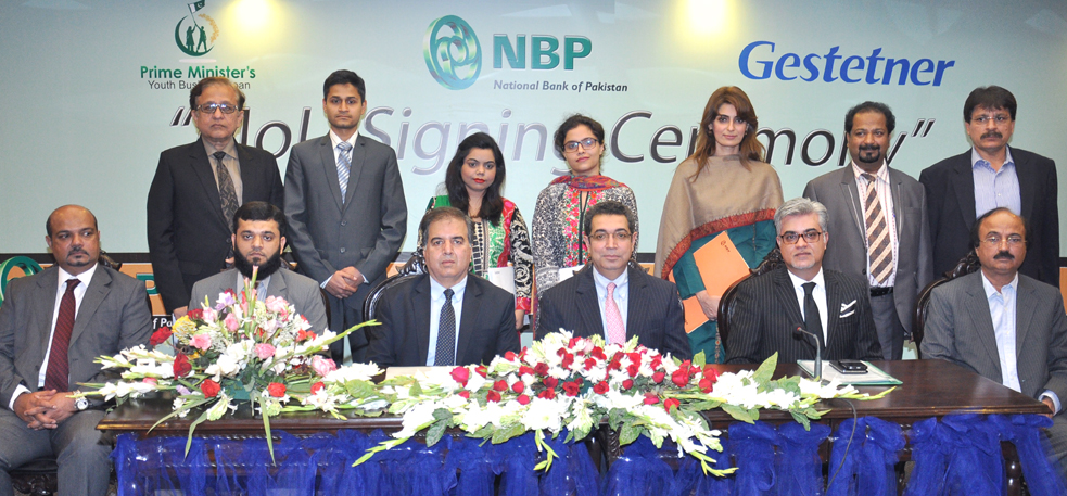 Nbp signs accord with gestetner to promote pm youth - National bank of pakistan head office ...