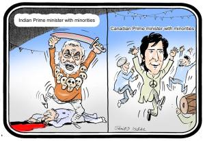 Minorities for Modi and Canadian PM