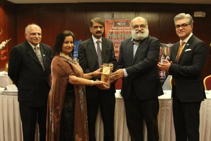 Almas with award