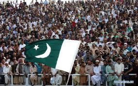 Pakistanis celebrating