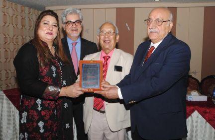 Rozina getting award