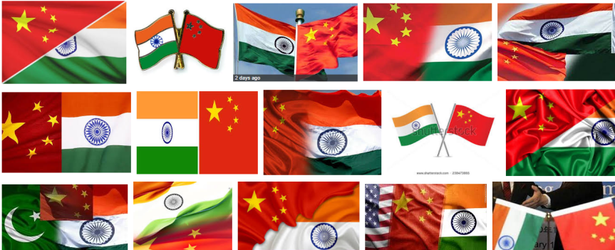 China India flags