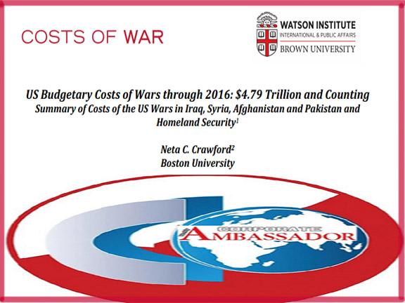 US war cost till 2017