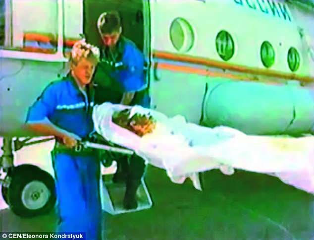 Beauty Queen being shifted to hospital