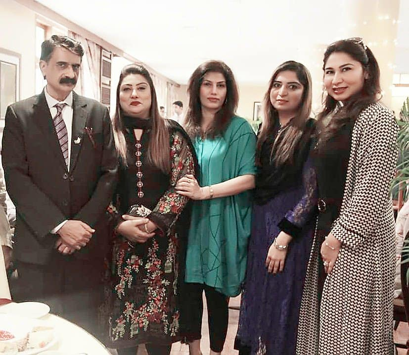 me with rozina, madiha and two friends