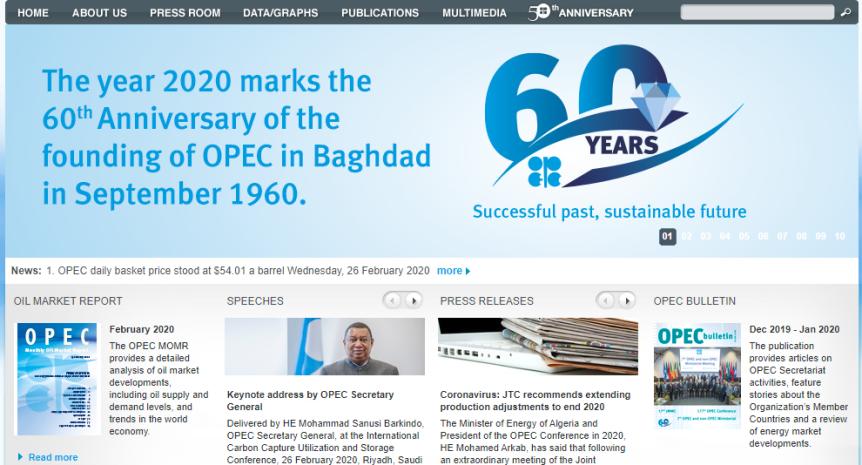 OPEC $54 barrel